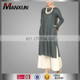 2016 Wholesale Designer Clothing Manufacturers Abaya Fashion Kaftan Dress Dubai Abaya Muslim Women Linen Tunic
