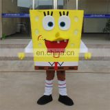 Popular cartoon movie sponge bob mascot costume for adults