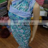 Hand Block Pareo Cotton Summer Women Dress Sarong Scarf Indian