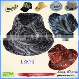 LSF74 Ningbo Bulk Price Black Fashion Unisex Fabric Fedora Party cheap fedora hat