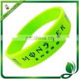 cheap printed logo silicone wristbands