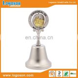 2016 popular pearl silver metal decorative souvenir bell