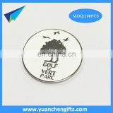 Custom wholesale engraved golf ball marker with silver letters