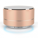 New Christmas Gift Metal Mini Wireless Speaker with 400mAh Battery Sound Mini Box Speaker
