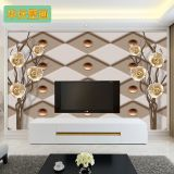 European living room TV background wall paper customization seamless wall cloth large murals modern 3D solid wallpaper wallpape
