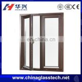 Excellent heat and water insulation aluminum alloy frame casement tempered/insulated/laminated/coated philippines glass window