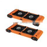 Good design wholesale double burner infrared burner gas cooker