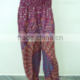 Harem Trouser Baggy Loose Genie Harem Pants Trouser jumpsuit Yoga Boho Gypsy Indian women Ladies Belly Dance Indian Flower Print
