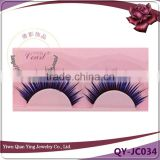 blue colored glitter fiber fashion eyelashes extensions manufacturer