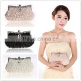 C58595S 2015 Women Evening Clutch Bag Gorgeous Pearl Crystal Beading Bridal Wedding Party Bags