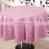 Large Size Round Wedding Jacquard Table Cloth , Customized Table Cover