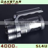 DAKSTAR New Arrival SL4U XML2 U2 4000LM 18650 High Power Aluminum Rechargeable Police LED Torch Flashlight With CREE