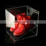 Custom Transparent Acrylic Shoes Box With Lid Manufacturers TBX038                                                                                         Most Popular