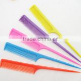 factory price plastic heat resisting hair salon comb with plastic tail