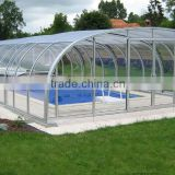 10 years warranty aluminum frame waterproof inground pool retractable enclosures