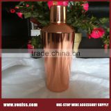 copper plated cocktail shaker stainless steel 700ml cocktail shaker cup hot sale metal manhattan cocktail shaker cap bar set                                                                         Quality Choice
