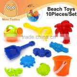Summer Toy Kids Beach Buckets Mini Sand Beach Toys 10 PCS/Set
