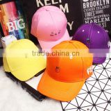 2016 Newest Fashion Simple Fresh Fruit Embroidery Men Women Curve Brim Plain Baseball Caps