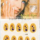 full cover bride wedding nail sticker