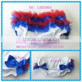 hot sale royal blue 4th July baby bloomer newborn,US Independence Day tutu bloomer baby girls ruffle butts