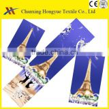 Twill 3D disperse city patterns Microfiber Polyester peach skin brushed textile fabric for markets