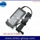 notebook computer spare parts Power supply High copy 16V 4A 6.5*4.4MM For Sony