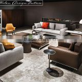 Modern Fashion Designs Noble Style TV Room Sofa Soft Furniture Leather Fabric Fancy Sofa Furniture Set