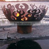 Metal steel outdoor fire pit/garden treasures fire pit with chimney