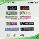 Allta Group customize brand name logo woven cheap clothing label fabric cloth garment labels in China                                                                                                         Supplier's Choice