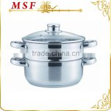 MSF-3409 durable & professional stainless steel steamer pot corn steamer induction base                                                                         Quality Choice