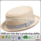 Unisex Paper Straw For Women Men Hat China Wholesale Porkpie Hat