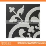 Black & white cement textured floor tile interior cement tile made in china manufacturer 200x200mm cheap price design