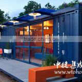 Cheap ready made modular luxury 40ft container house prefab shipping living container house for sale