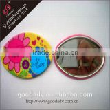 High quality fancy custom round metal compact mirror / Flower shape mirror