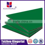 Alucoworld best quality with anodizing for a1 b2 fireproof aluminum composite pa wall decorative