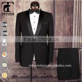 High Quality garments factory in china oem service Slim Fit gem black Evening Wedding Formal Party suits tuxedo mens