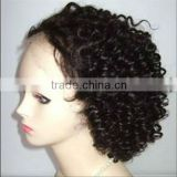 fashion brown curly full lace wig