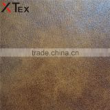 530 gsm weight bronzed embossed PU base woven backing nubuck leather material for upholstery, furniture accessories