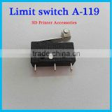 Industrial FDM prusa i3 3D printer machine accessories High quality mini micro switch limit switch KW11-2 3 feet Shank