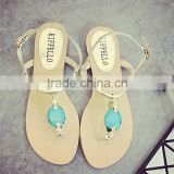 China Wholesale Latest Ladies Flat Sandals Design for Ladies Pictures