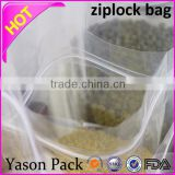 Yason clear plastic zippered storage bag zip resealable bag plastic ziplock bag for clothing