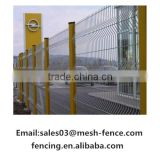 The high quality ISO 9001 powder coated 50x200mm 3d curved bending welded wire mesh fence for construction