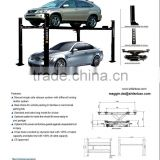 four post parking lift car auto lift with drop tray, jack tray and caster kit for choice;