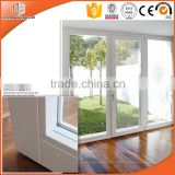 China aluminium wood composit double hinged door from doors and windows factory