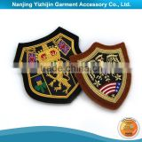 Custom design high quality military navy uniform bullion wire cap badge                                                                         Quality Choice