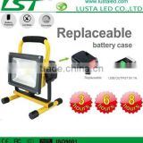 LED Portable Floodlight IP65 Epistar Battery Power LED Flood Lights 20W with Motion Sensor Outdoor LED Flood Lights PIR
