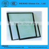 Hiigh Quality 6+19A+6mm Insulated/((Clear + Light Blue Reflecitve )Tempered Glass) for Curtain Wall and Window                                                                         Quality Choice
