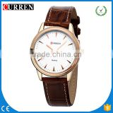 CURREN/CW032 China Wholesale Watch Men Casual Quartz Leather Wristwatch Army Military Reloj Hombre Men's Clock Curren