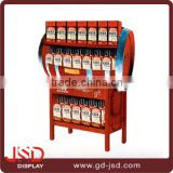 Hot new retail products useful wine bottle display rack,wine display stand,wooden wine rack