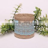 Woven Jacquard Ribbon Green, jute tape trim Ribbon